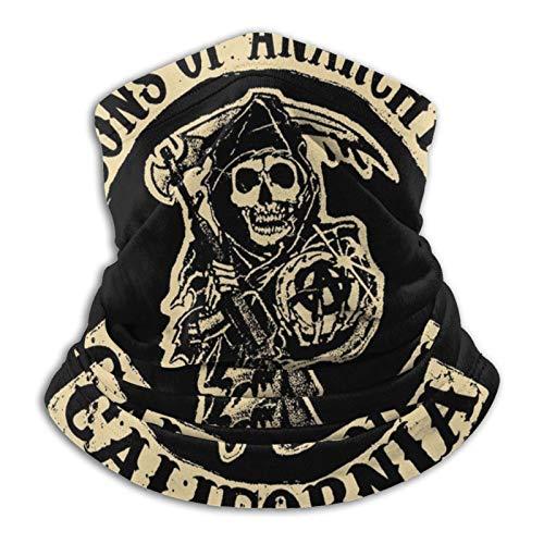 WH-CLA Calentador De Cuello So-NS O-F An-Archy 2 Adulto Sombreros Durable Bandana Sin Costura Pasamontañas para Hombre Mujer,Senderismo,Motocicleta