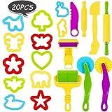 Phiraggit Outils de Pâte À Modeler, Enfants Accessoire Pate a Modeler,20 pièces Kits D'outils de Pâte Argile Smart Dough...