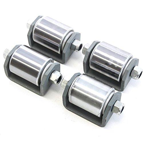 4 Heavy Duty Weld on Steel Micro 2 Inches Roller Heavy Duty Steel Mini Wheel Grease Fitting RV Trailers Caster