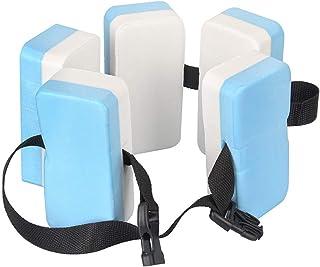 Schimer Cinturón de natación para niños, Color Naranja, con 6 Bloques de Cuerpo, Correa de Nailon Ajustable, Color Azul