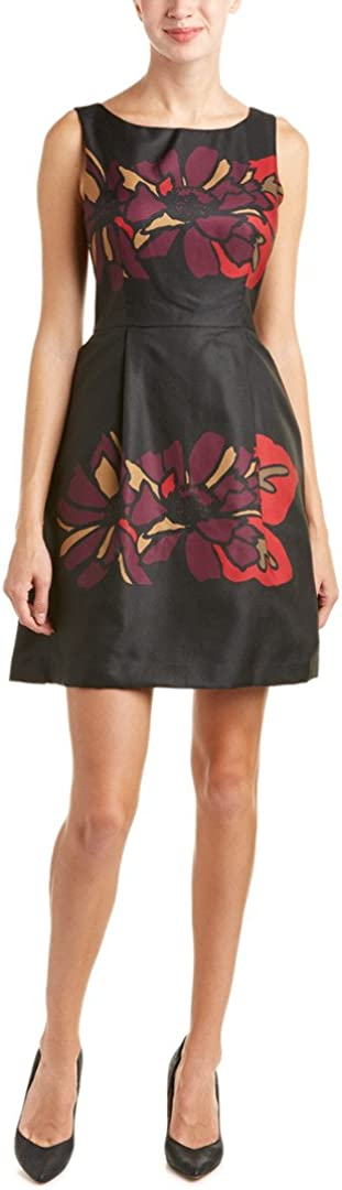 Taylor Dresses Women's Placement Print Fit and Flare Dress