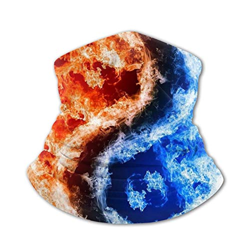 Arehji Yin Yang agua de fuego niños cuello polaina cara bandana máscara lavable bufanda cubierta headwear