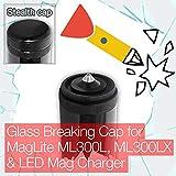 Stealthy - Tapa de cristal para cargador MagLite ML300L, ML300LX y LED