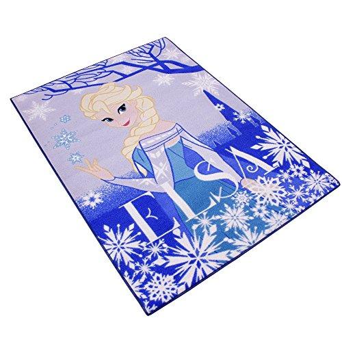 GUIZMAX Compatible avec Tapis Enfant La Reine des Neiges 133 x 95 cm Disney Elsa