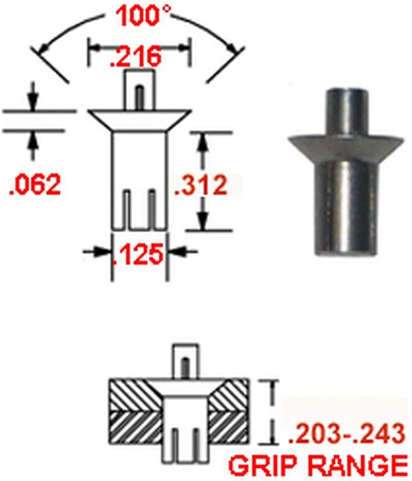 Max 81% OFF 38-504-07-13 ALUMINUM DRIVE RIVET WITH STAINLESS 1 DIAM Factory outlet PIN - 8