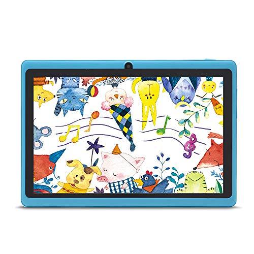 Haehne 7 Zoll Tablet PC Google Android 44 Quad Core A33 8GB ROM Zwei Kameras Bluetooth WiFi Azurblau