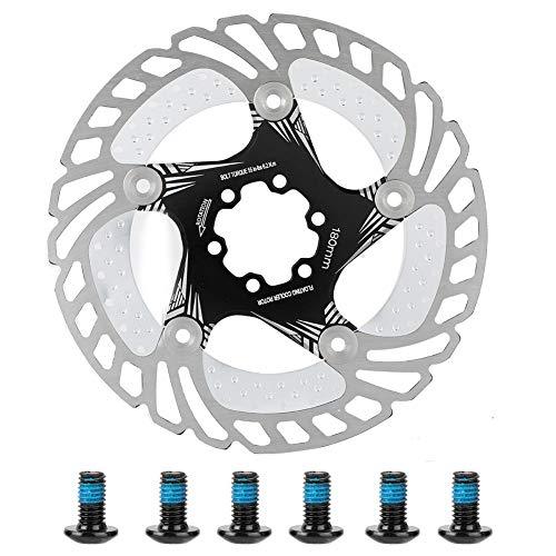 VGEBY1 Bike Bremsscheibe, 180mm Bike Bremsscheibe Schwimmende Rotoren mit 6 Schrauben Mountainbike Bremsbelag (Schwarz)