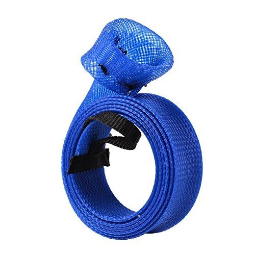 Letton Spinning Cubiertas Protectoras ca?a de Pescar Manga Azul de Pesca con Diamondback Dise?o