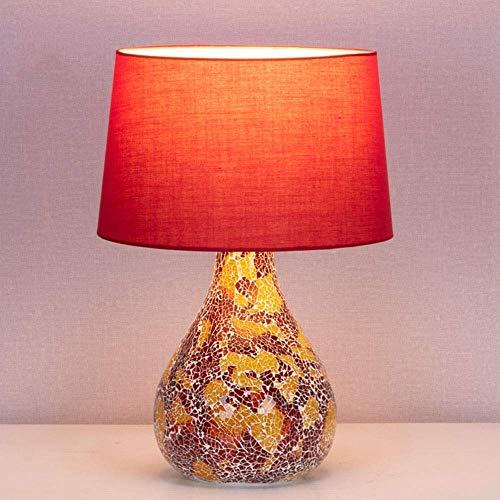 LLLQQQ Nórdico creativo retro noche lámpara dormitorio hogar decorativo cerámica mesita de noche lámpara LED minimalista matrimonio
