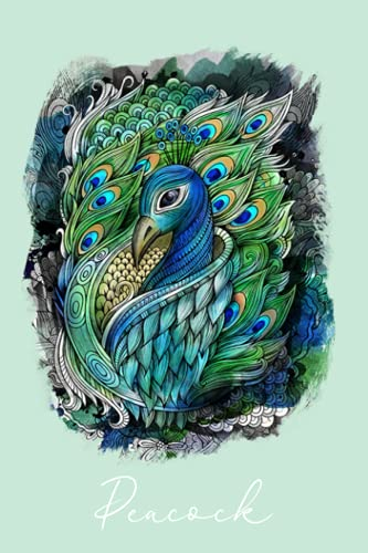 Peacock Notebook: Be Brave, Notebook Planner -6x9 inch Daily Planner Journal, To Do List Notebook, Daily Organizer, 110 Pages