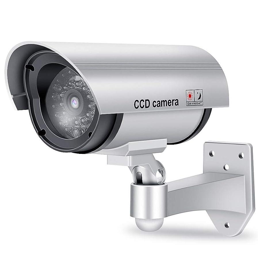 指令びん赤ちゃんダミーカメラ ソーラーパネル搭載 セキュリティステッカー付 防犯カメラ 監視カメラ 不審者対策 防犯対策 赤外線ledライト 赤LED点滅ライト常時点滅 偽装 屋内外両用
