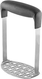 TECHVIDA Stainless Steel Potato Masher with Broad and Ergonomic Horizontal Handle – Fine-grid Mashing Plate for Smooth Mas...