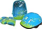 KRF The New Urban Concept Set Mochila PROTECC+Casco Kit de protección, Niños, Azul, Talla Única