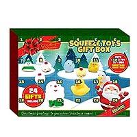 クリスマスアドベントカレンダーフィラーの12日24個のかわいいソフトスクイーズ動物おもちゃクリスマス新年カウントダウンホリデープレゼント子供女子男の子