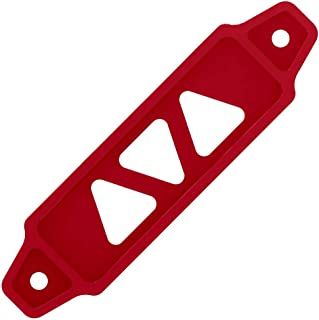 Small Aluminum Car Battery Tie Down Bracket (Matte Red)