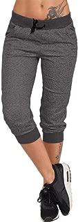 Women's Sweatpants, Shorts Jogger Drawstring Waist Running Trousers Tracksuit Capri Pants