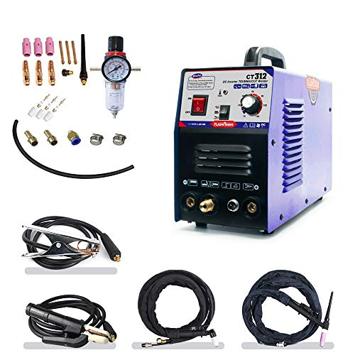 TIG/MMA Air Plasma Cutter - Tosense CT312 3 in 1 Combo Welding Machine,120A TIG/MMA, 30A ARC Plasma Cutter Dual Voltage 220V/110V