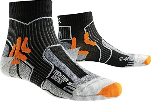 X-Socks Herren Strumpf MARATHON ENERGY, Black/Orange, 39/41, X100094