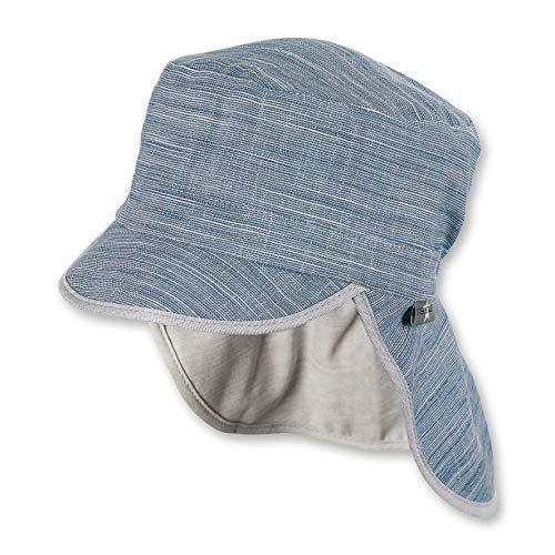 Sterntaler Jungen Schirmmütze mit Nackenschutz Mütze, Blau (Marine 300), Large (Herstellergröße: 55)