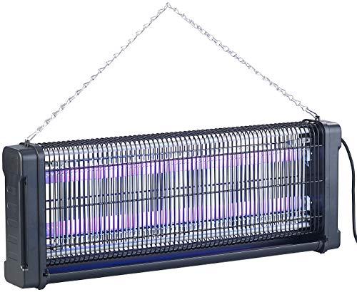 Lunartec Insektenvernichter Strom: UV-Insektenvernichter mit Rundum-Gitter, 2 UV-Röhren, 4.000 V, 40 Watt (Anti-Mücken-Licht)