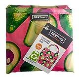 NERTHUS Borsa Termica Porta Alimenti Blu Panno Verde,
