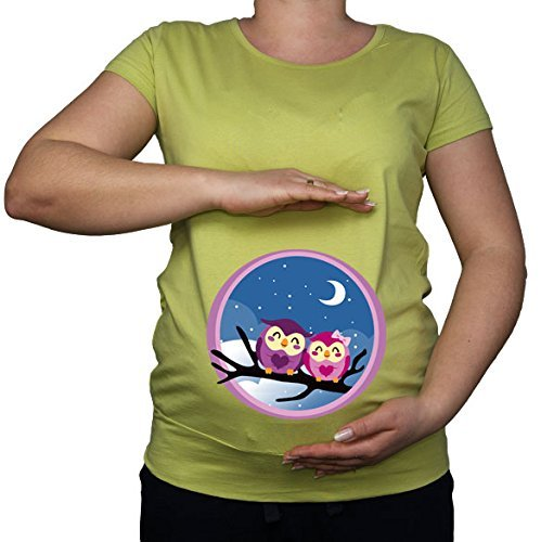 Maternité Grossesse Taille 10–20 Hiboux Hibou Amour Imprimé Top Tunique T-Shirt - -