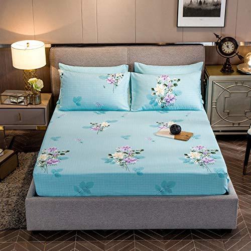 FJMLAY Bedsure Sabanas Bajeras Ajustables -,Sábanas bajeras de algodón, Protector de Alfombrilla Antideslizante para apartamento Dormitorio-M_150cmx200cm