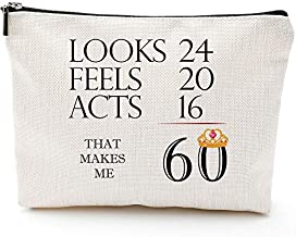 60th Birthday Gifts for Women-That Makes Me 60-1959 Birthday Gifts for Women, 60 Years Old Birthday Gifts Makeup Bag for Mom, Wife, Friend, Sister, Her, Colleague, Coworker