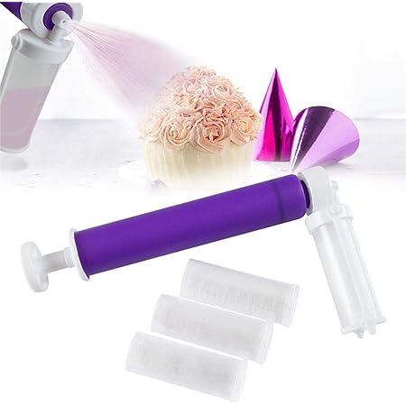 CaCaCook Aerógrafo Manual decorador de Tartas -tubo de aerosol para hornear para pasteles, purpurina, decoración de pasteles, magdalenas y postres, útil herramienta para glaseado de pasteles