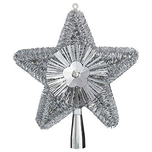 Feerie Christmas Cimier de Sapin Brillant - 23 cm. - Argent