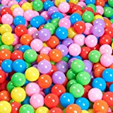 MODEREVE 100 Pack Balls for Ball Tent, BPA Free Colorful Plastic Balls Baby Play Balls for Ball Pit, Bounce House, Baby Pool & Playhouse