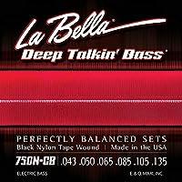 LA BELLA (ラベラ) 6弦ベース弦 750N-CB Black Nylon Tape 6-String Light