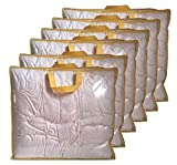 6 Pack Clear Storage Bags with Zipper and Handles, Vinyl Zippered Storage Bag for Clothes, Blanket, clothing, Quilts, Pillows, Bedding, 23x20x6 Inch