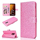 LISUONG MZYD Ayyd for Samsung Galaxy A6 + (2018) Poudre de Paillettes Horizontal Horizontal Toam...