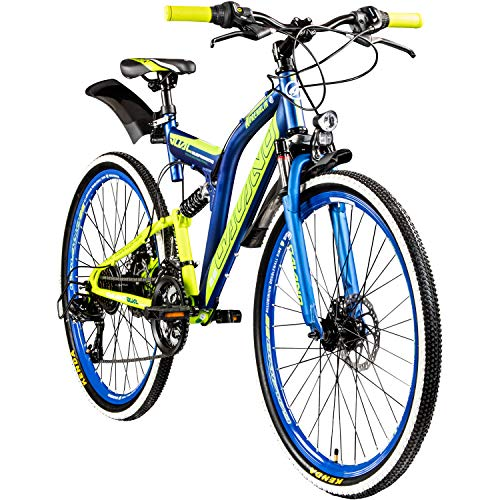 Galano 26 Zoll MTB Fully Adrenalin DS Mountainbike STVZO Jugendfahrrad Farbe:dunkelblau