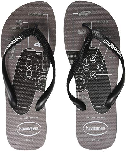 Havaianas Unisex Adults' Playstation Flip Flops, Multicolour (Steel Grey 5178), 10.5 (45/46 EU)