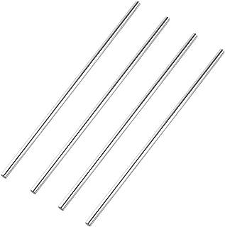S SIENOC Linear Motion Rods/Shafts/Guides 8mm Round Shaft Rod Bars,Case Hardened Chrome 100mm 4 Pcs