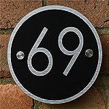 Números Y Placas De Dirección Casa Letrero Compuesto De Aluminio De La Casa Placas Letrero Con El Número De Puerta Placa Personalizada 2 Tamaños-14X14Cm_Negro