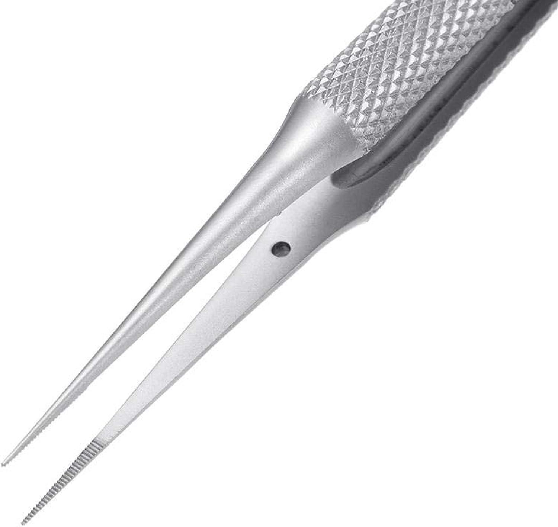 0.1mm WL High Precision Tweezers Bend Straight Stainless Steel BGA Motherboard Jump Fly Wire Tweezer  D