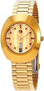 Rado Original Diastar Gold-Toned Analog Watch for Men 01.648.0413.3.045.RAD3368785