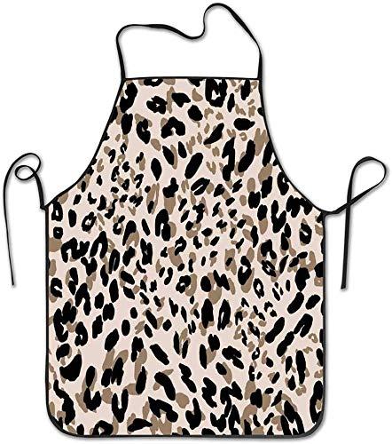 Delantal de cocina con diseño abstracto leopardo leopardo abstracto