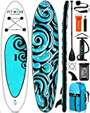 FITPULSE Paddle Board Inflatable Paddle Boards for Adults Inflatable Sup Inflatable Stand Up Paddle Board Inflatable Paddle Board Stand-Up Paddleboards 9'5 Ft