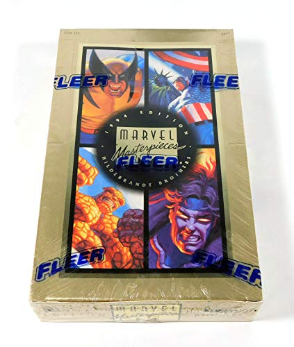 Marvel Masterpieces 1994 Edition Hildebrandt Brothers Trading Card Box -36 Count image