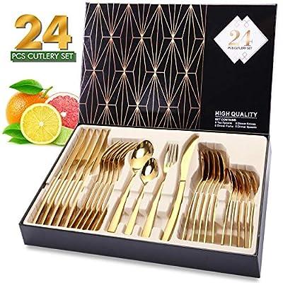 Cutlery Set, Elegant Life Silverware Set by Elegant Life