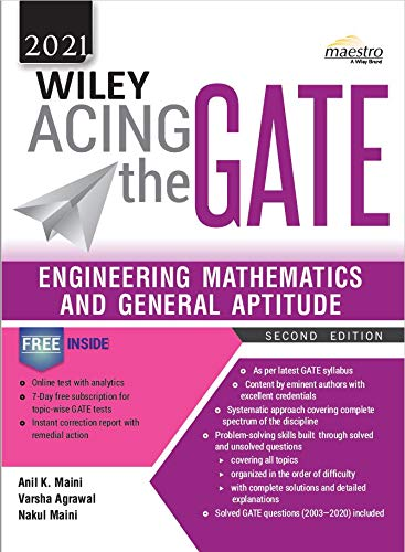 Wiley Acing the GATE: Engineering Mathematics and General Aptitude, 2ed