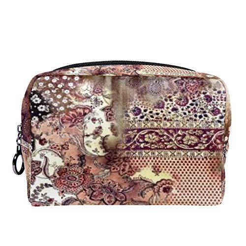 Bolsa de maquillaje con diseo de gra Danzas con la luna, bolsa de aseo para mujer para cuidado de la piel, prctica bolsa con cremallera