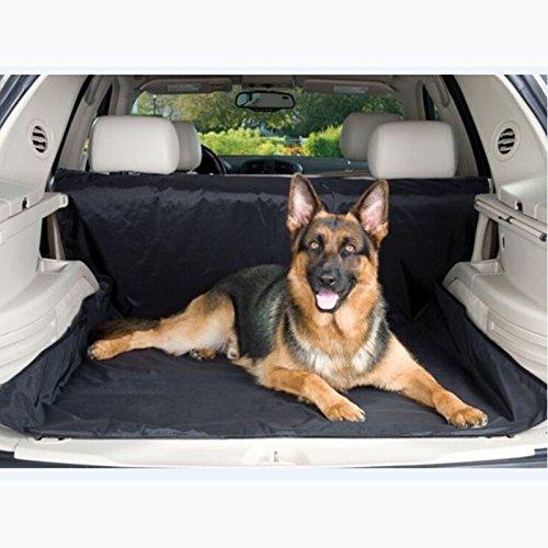 Alfombrilla impermeable para maletero de coche, con 4 correas, color negro, 150 x 120 cm, funda duradera y protege tu vehículo