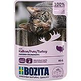 Bozita Pouch Häppchen in Soße mit Pute | 12 x 85g Katzenfutter nass