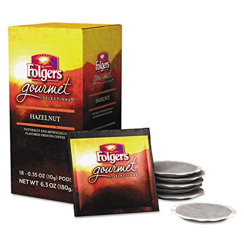 Folgers FOL63103 Gourmet Selection Hazelnut Coffee Pods (Pack of 18)