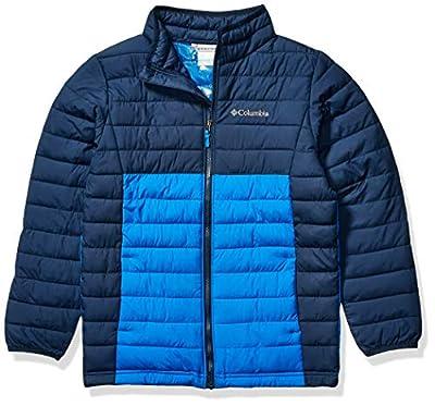 Columbia Boys Powder Lite Jacket, Super Blue, Collegiate Navy ,Medium, Big Boys